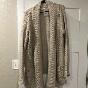 Tan over sized sweater